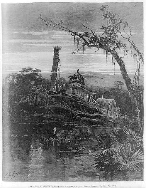 The U.S.M. Mississippi passenger steamer