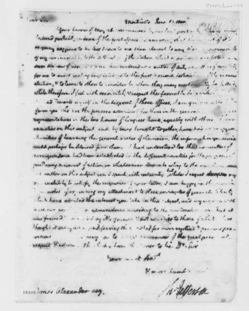 Thomas Jefferson to Amos Alexander, June 13, 1800