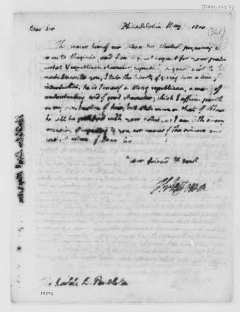 Thomas Jefferson to Edmund Pendleton, May 3, 1800
