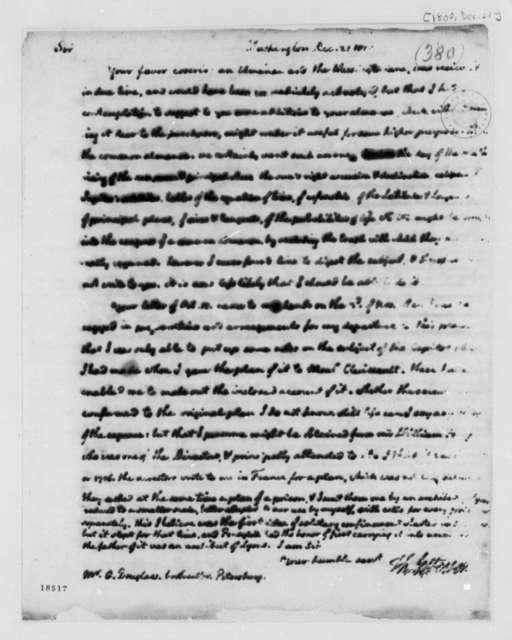 Thomas Jefferson to George Douglas, December 21, 1800, Bookseller