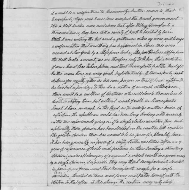 Thomas Jefferson to Harry Innes, January 23, 1800, with Copy