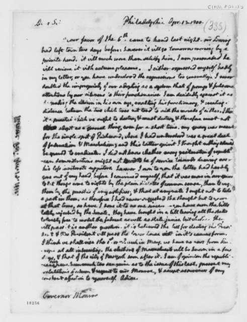 Thomas Jefferson to James Monroe, April 13, 1800