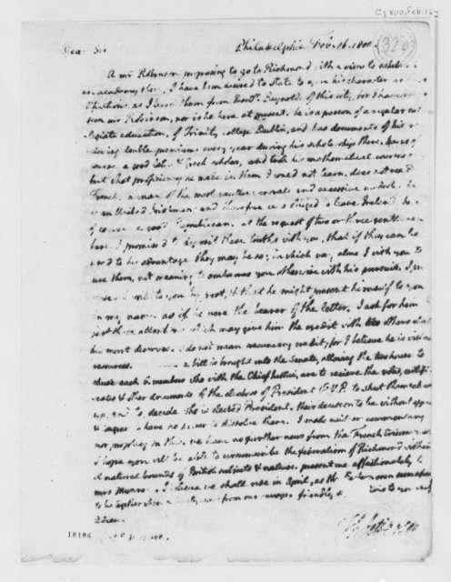 Thomas Jefferson to James Monroe, February 16, 1800