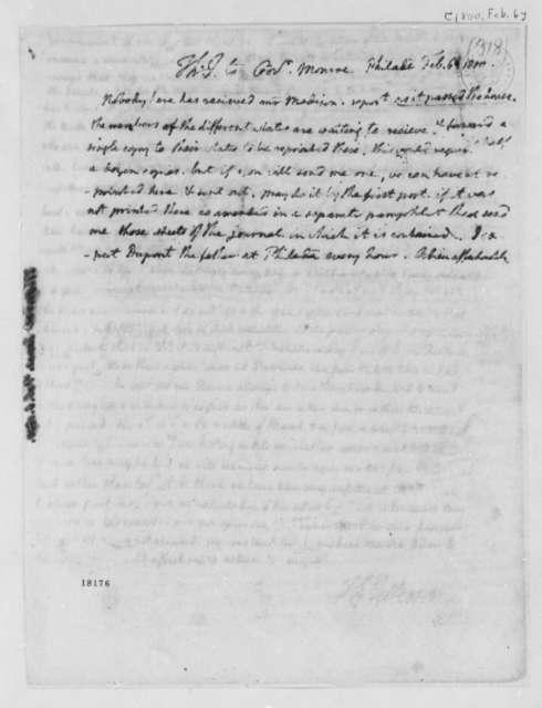 Thomas Jefferson to James Monroe, February 6, 1800