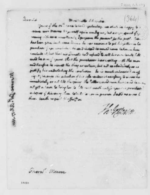 Thomas Jefferson to James Monroe, October 17, 1800