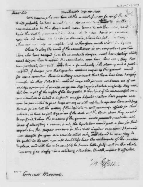 Thomas Jefferson to James Monroe, September 20, 1800