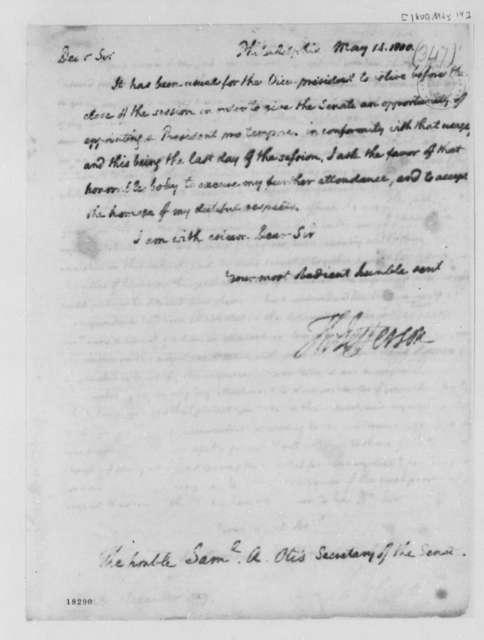 Thomas Jefferson to Samuel A. Otis, May 14, 1800