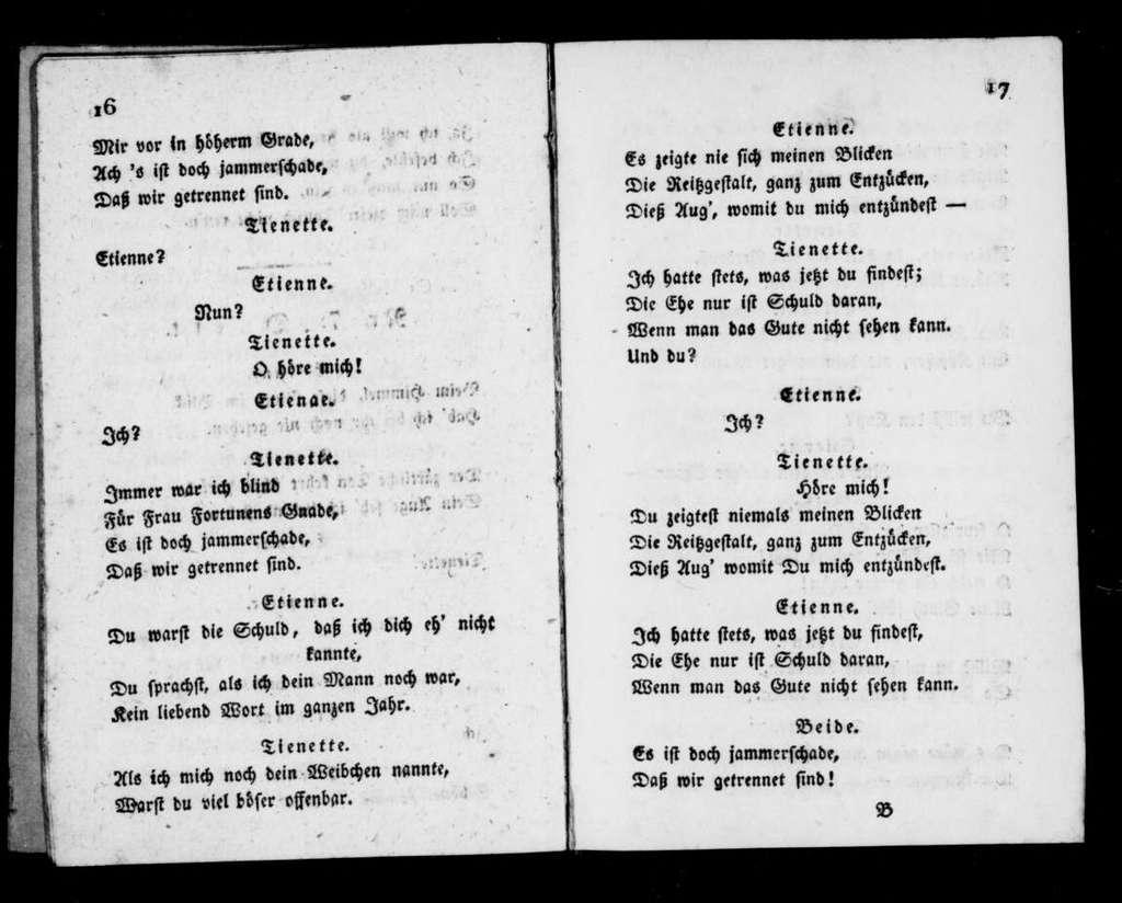 Troqueurs. Libretto. German