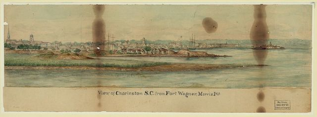 View of Charleston S.C. from Fort Wagner, Morris Isla