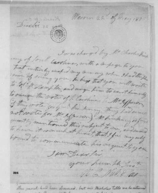 Wilson C. Nicholas to James Madison, May 22, 1800.