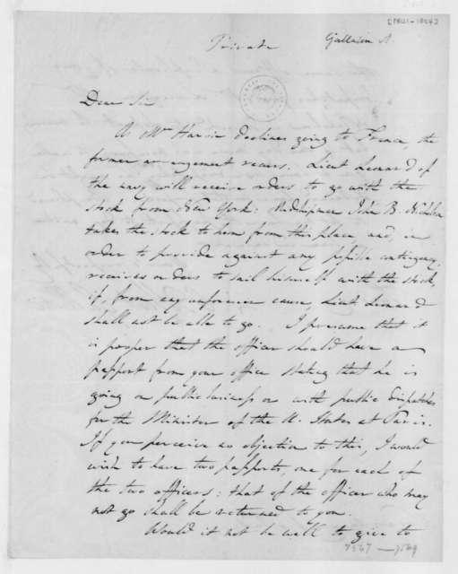 Albert Gallatin to James Madison. 1801.