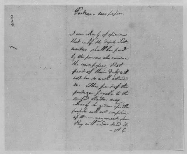 Albert Gallatin to Thomas Jefferson, December 13, 1801, Warrants