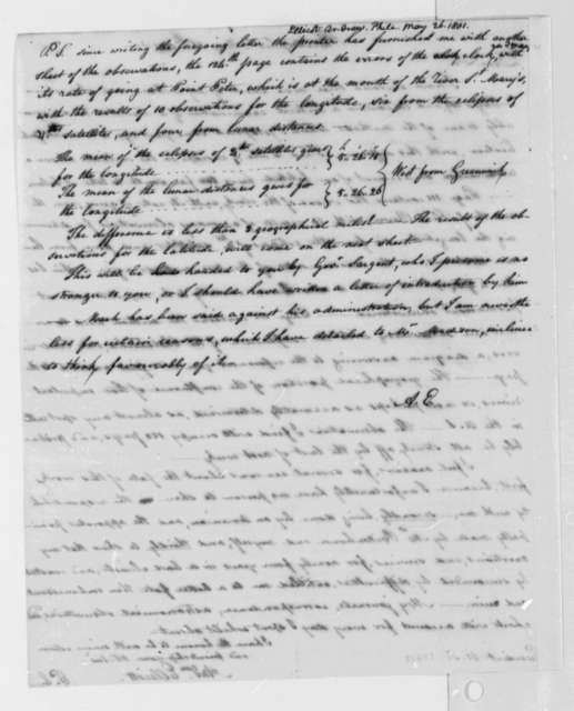 Andrew Ellicott to Thomas Jefferson, May 26, 1801