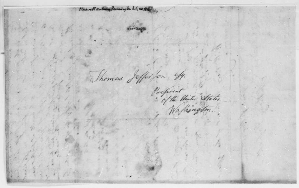 Anthony Haswell to Thomas Jefferson, July 20, 1801