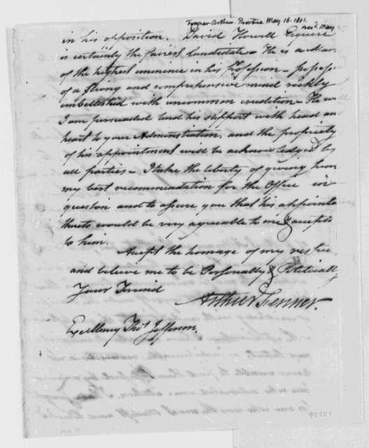 Arthur Fenner to Thomas Jefferson, May 16, 1801