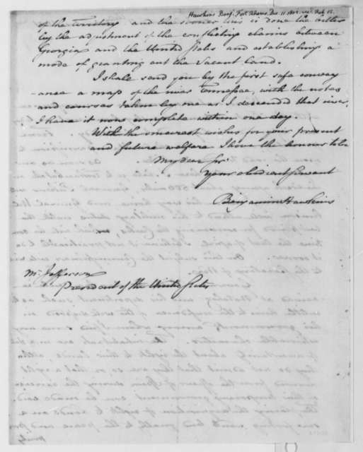 Benjamin Hawkins to Thomas Jefferson, December 11, 1801