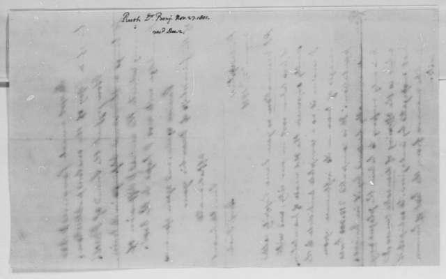 Benjamin Rush to Thomas Jefferson, November 27, 1801
