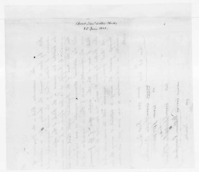 Daniel Brent and others to James Madison, June 25, 1801. Petition.
