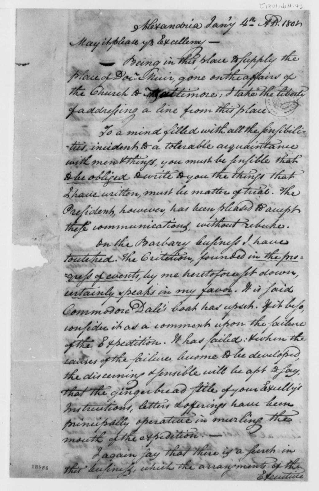 David Austin to Thomas Jefferson, January 4, 1801