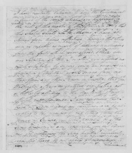David Humphreys to Thomas Jefferson, May 8, 1801