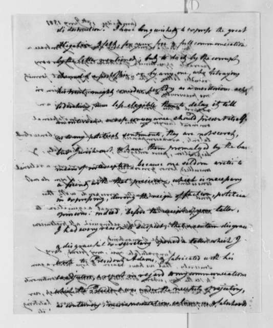 Elbridge Gerry to Thomas Jefferson, January 15, 1801
