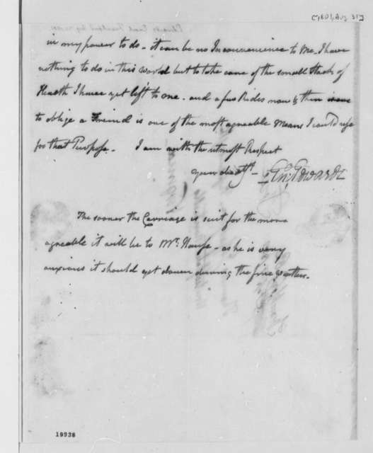 Enoch Edwards to Thomas Jefferson, August 31, 1801