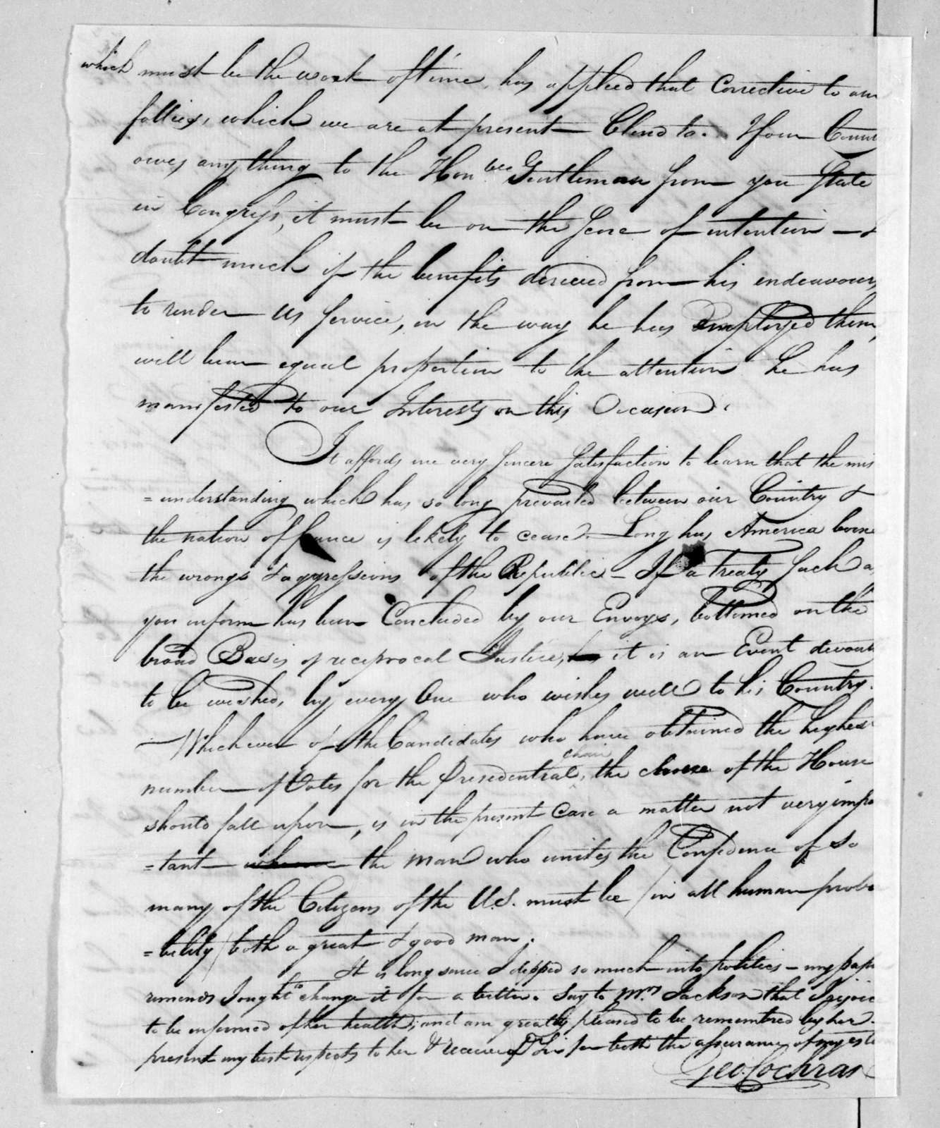 George Cochran to Unknown, March 26, 1801