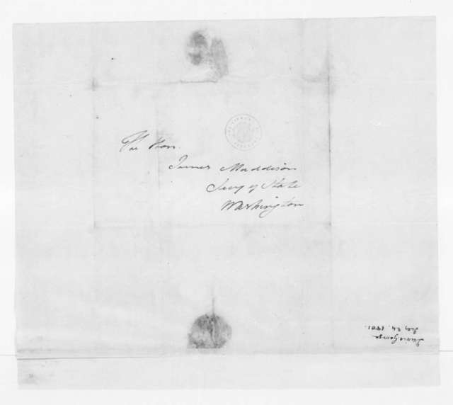 George Davis to James Madison, July 24, 1801. Includes enclosure from S. L. Mitchill to T. Jefferson.