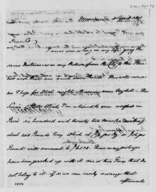 Gouverneur Morris to Thomas Jefferson, April 8, 1801