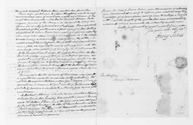 Harry Innes to James Madison, June 11, 1801.