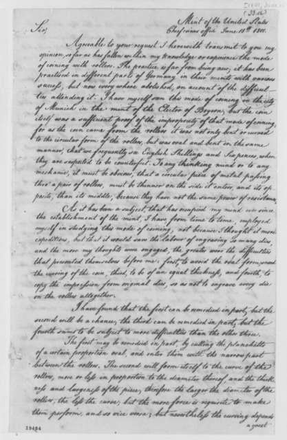 Henry Voight to Elias Boudinot, June 15, 1801