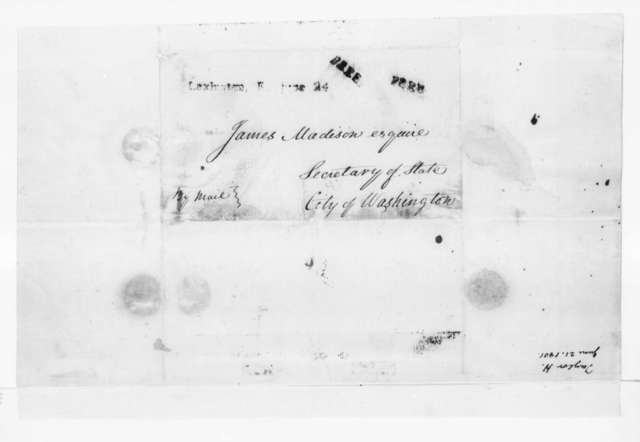 Hubbard Taylor to James Madison, June 21, 1801.
