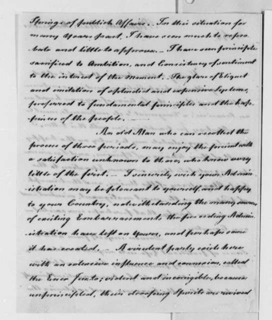 James Warren to Thomas Jefferson, March 4, 1801