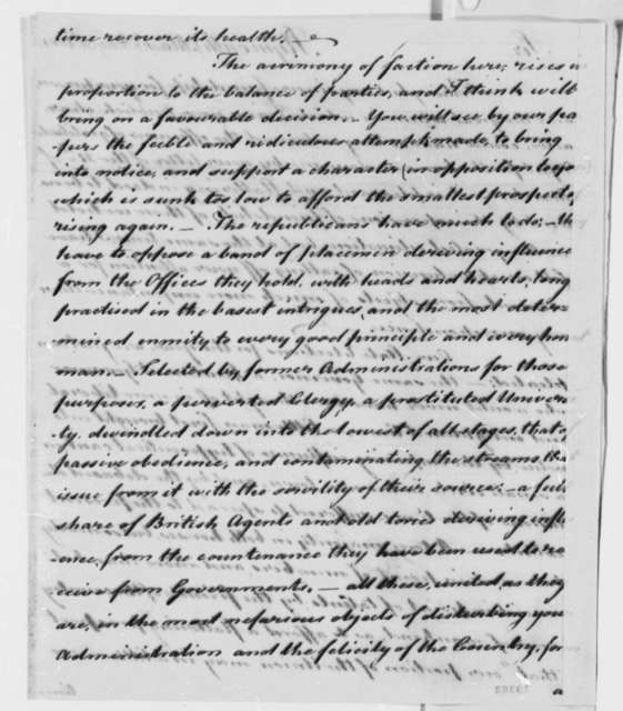 James Warren to Thomas Jefferson, May 31, 1801