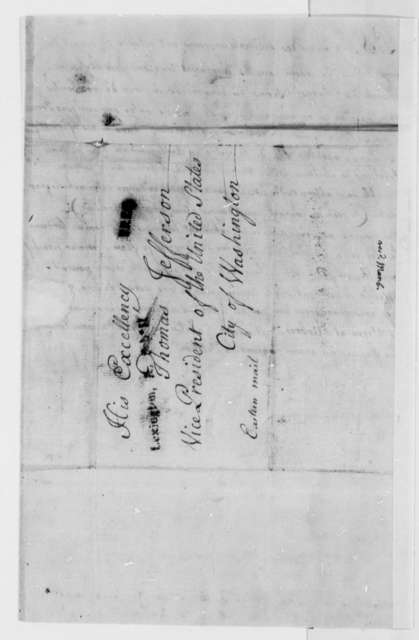 Jean Jacques Dufour to Thomas Jefferson, February 1, 1801, Petition in French