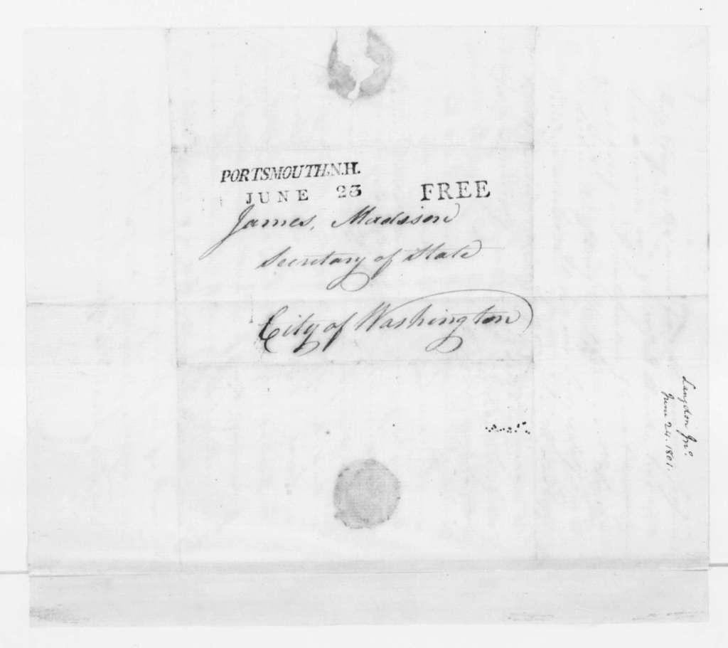 John Langdon to James Madison, June 24, 1801.