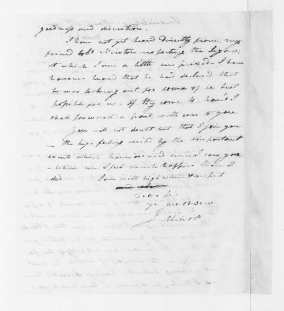 John Minor to James Madison, March 31, 1801.