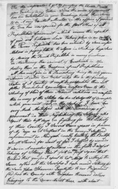 Johnson Cook to Thomas Jefferson, October 17, 1801