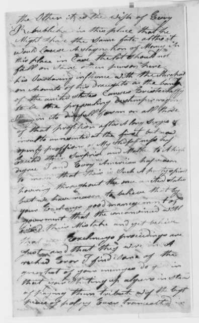 Johnson Cook to Thomas Jefferson, October 20, 1801