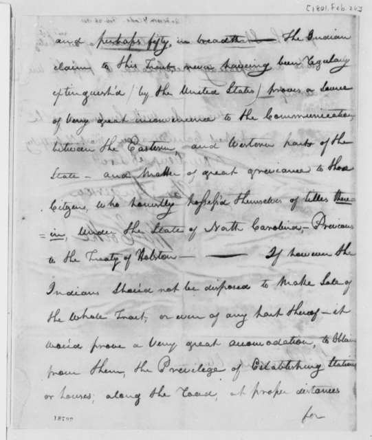 Joseph Anderson and William Cocke to Thomas Jefferson, February 26, 1801