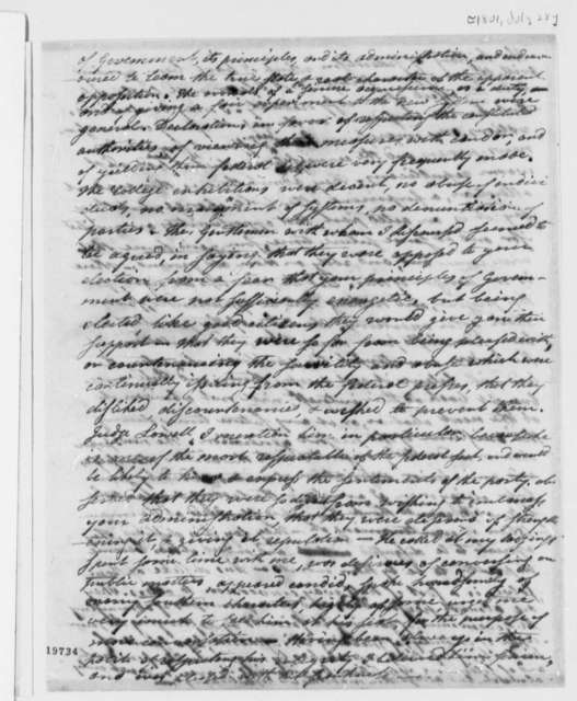 Levi Lincoln to Thomas Jefferson, July 28, 1801