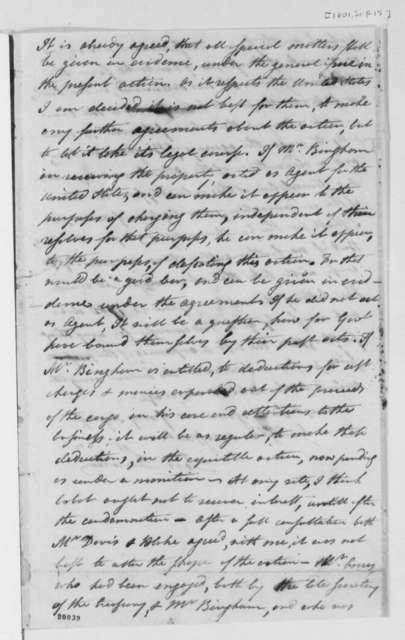 Levi Lincoln to Thomas Jefferson, September 15, 1801