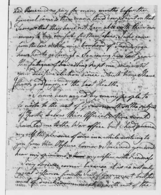 Matthew Lyon to Thomas Jefferson, August 12, 1801