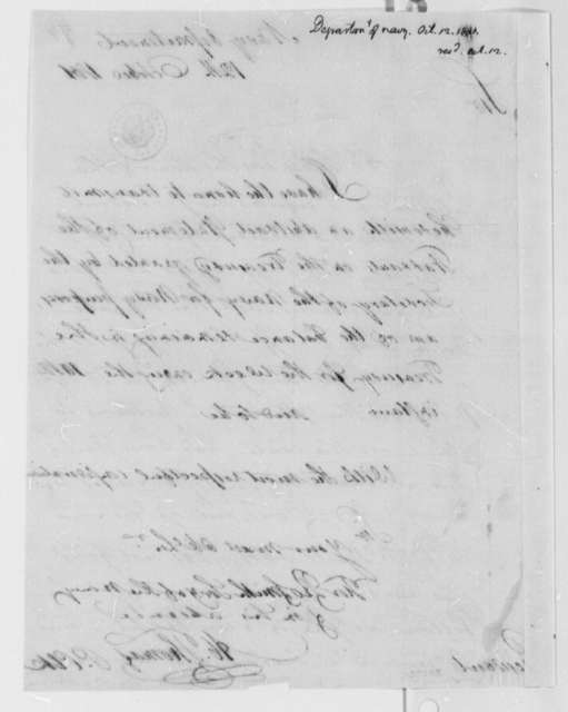 Navy Department to Thomas Jefferson, October 12, 1801
