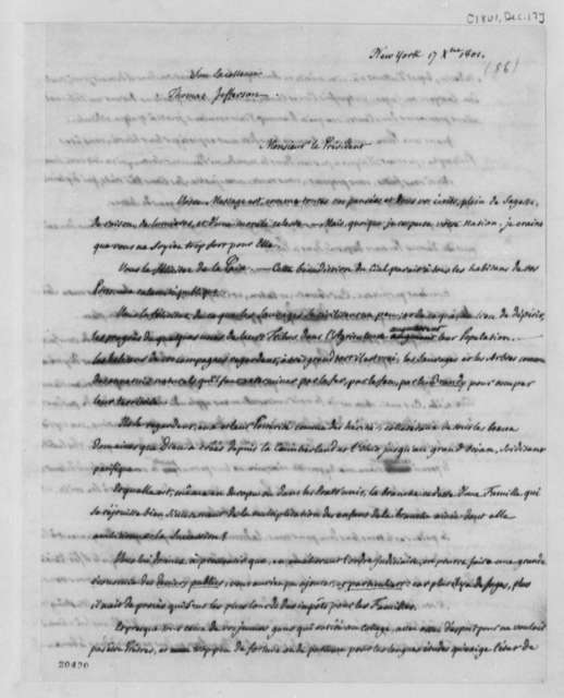 Pierre S. Dupont de Nemours to Thomas Jefferson, December 17, 1801, in French