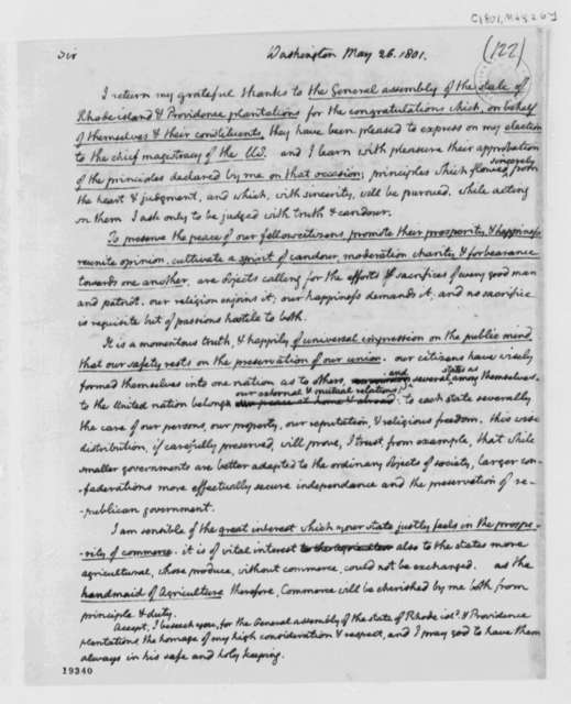 Rhode Island General Assembly, May 26, 1801