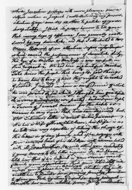 Robert Morris to Thomas Jefferson, March 2, 1801