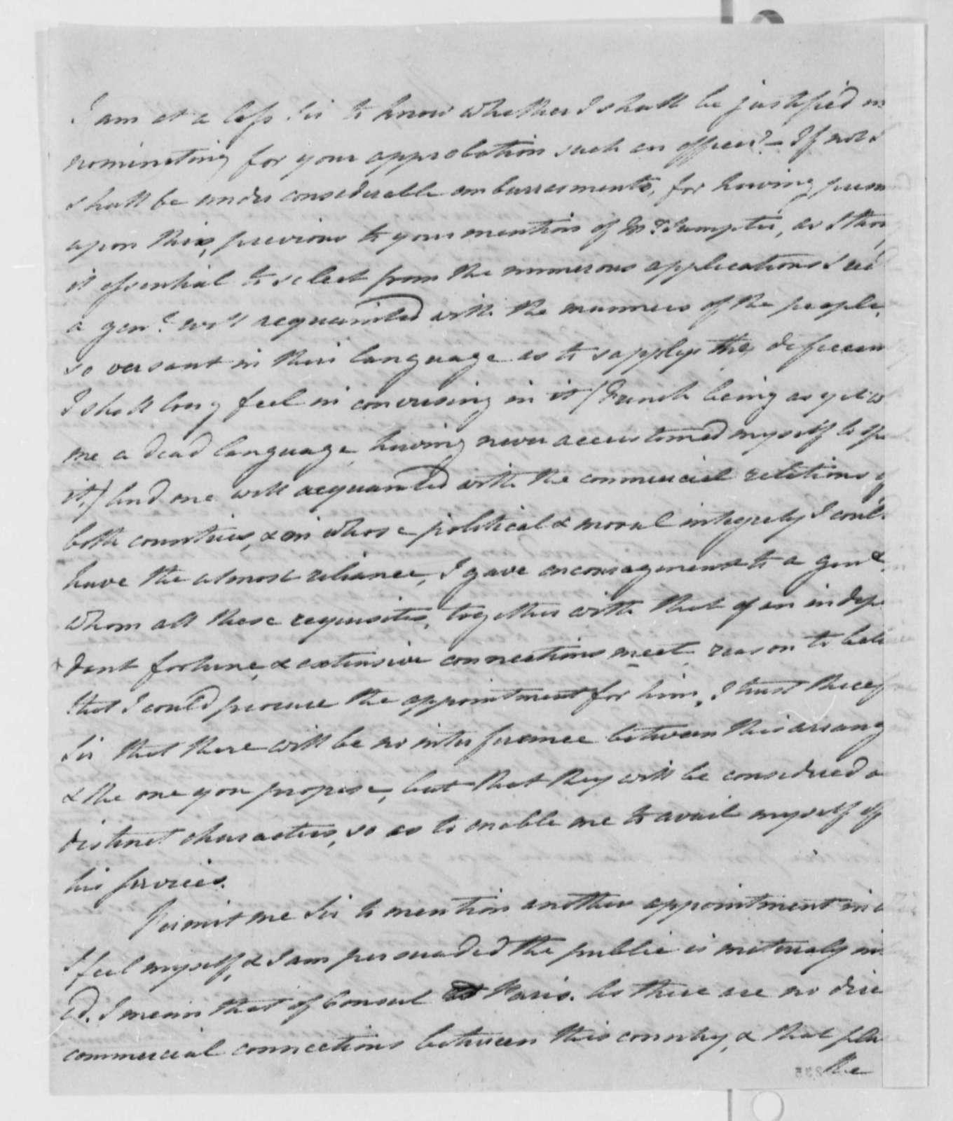 Robert R. Livingston to Thomas Jefferson, May 2, 1801