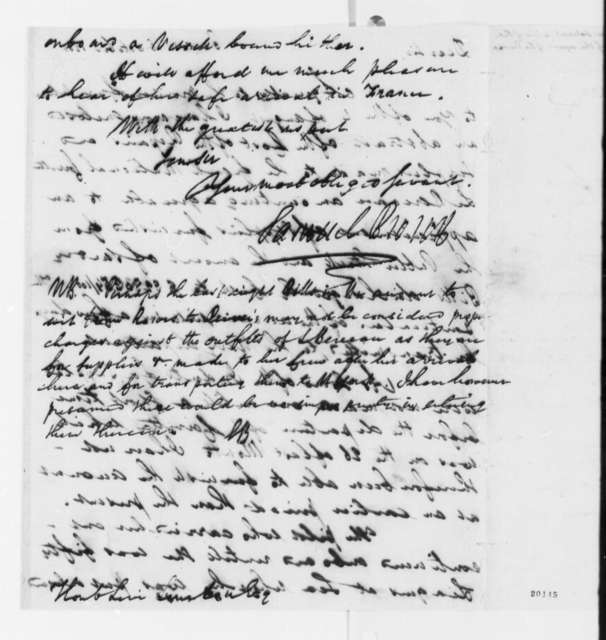 Samuel Brown to Levi Lincoln, October 16, 1801, with Extract