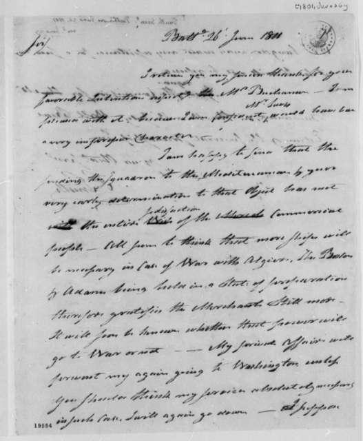 Samuel Smith to Thomas Jefferson, June 26, 1801